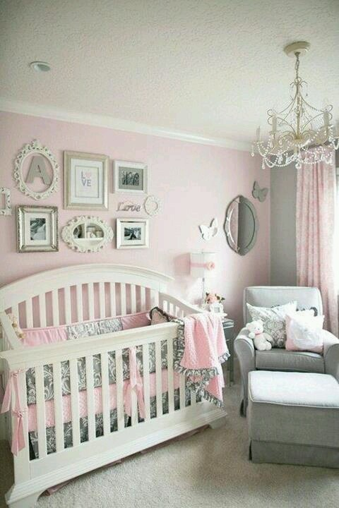 Cuisine Design En L : Chambre bébé rose et grise – Cest ça la vie