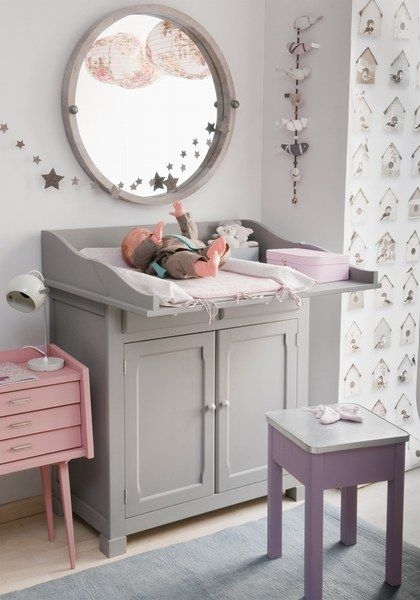 chambre fille grise chambre bebe fille idee deco chambre. Black Bedroom Furniture Sets. Home Design Ideas