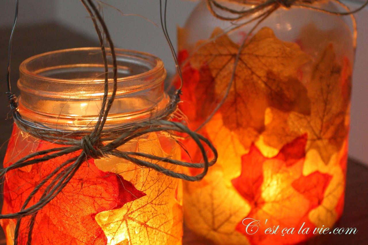 Lanterne d 39 automne c 39 est a la vie - Bricolage feuille d automne ...