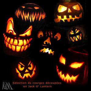 visages citrouilles horrifiants - Decoration Citrouille Pour Halloween