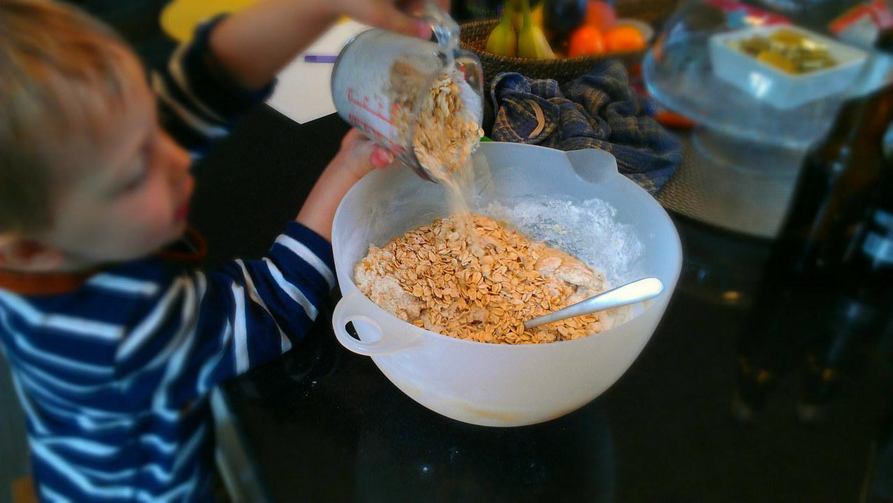 mélange préparation galettes