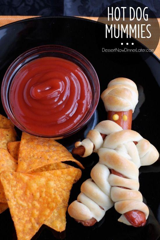 saucisse repas halloween