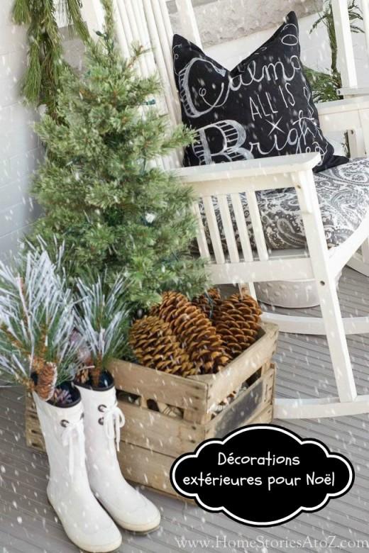 décor balcon Noël