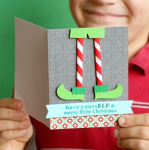 Fabriquer des cartes de no l c 39 est a la vie - Tarjetas de navidad faciles ...