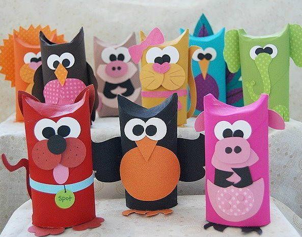 Bricolages faire avec des tubes de carton c 39 est a la vie - Bricolage a faire en papier ...