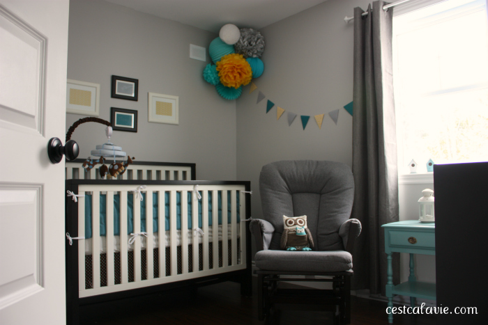d coration de chambre de b b gar on c 39 est a la vie. Black Bedroom Furniture Sets. Home Design Ideas