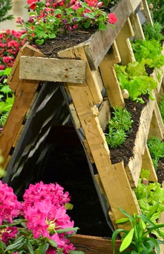 Un jardin avec des palettes de bois c 39 est a la vie for Petit salon de jardin en palette