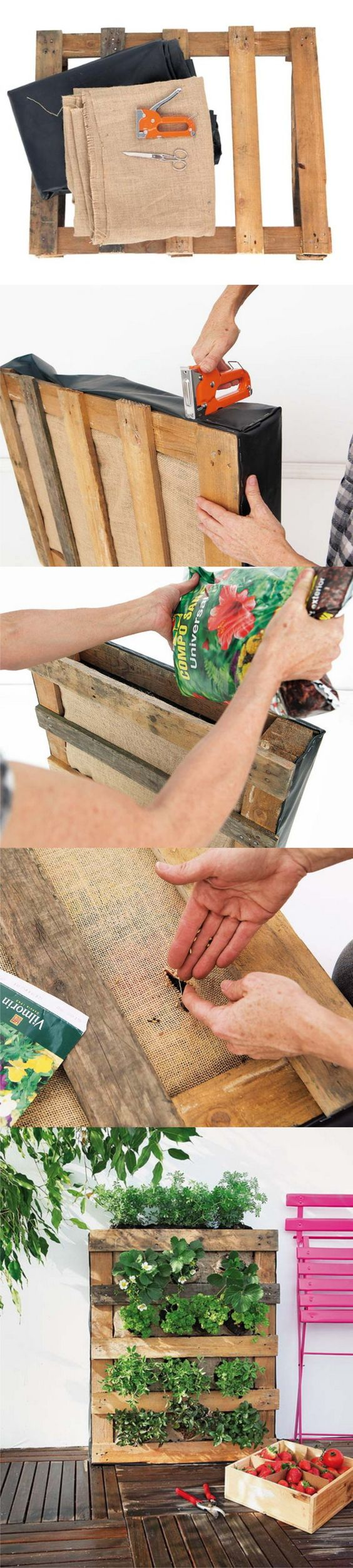créer jardin palette bois