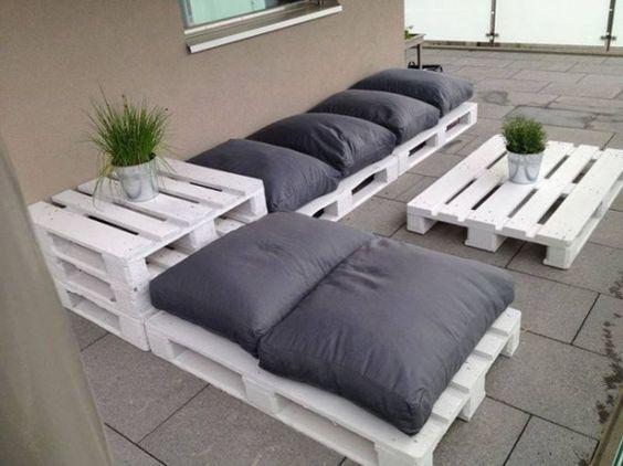 Id es d co pour am nager une terrasse coups de coeur petits prix - Idee salon de jardin palette ...