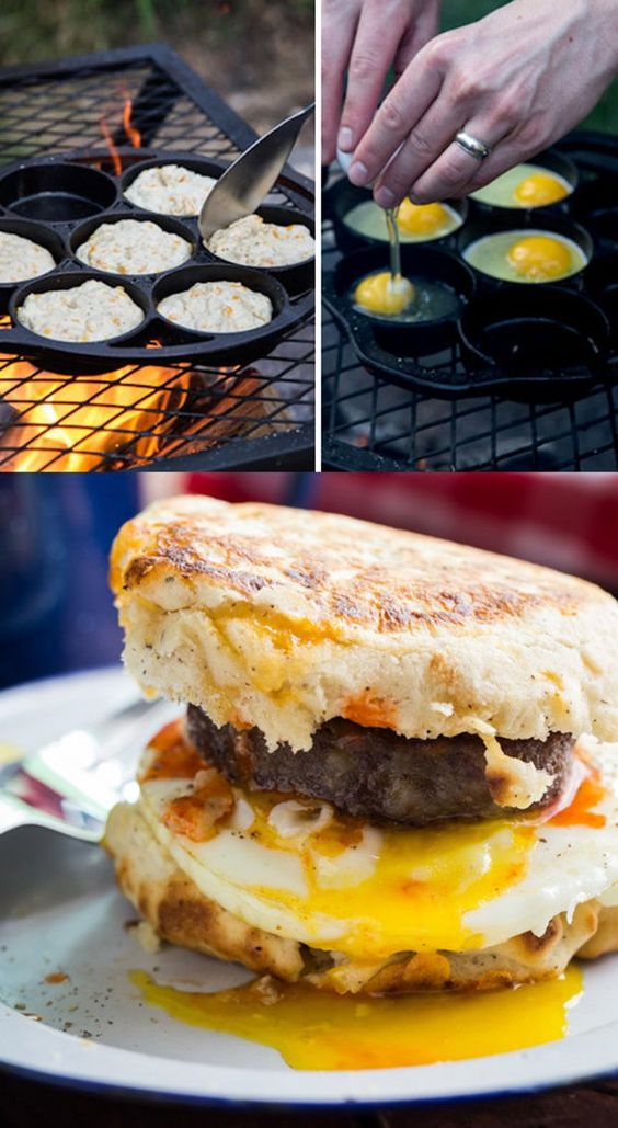 sandwich déjeuner camping
