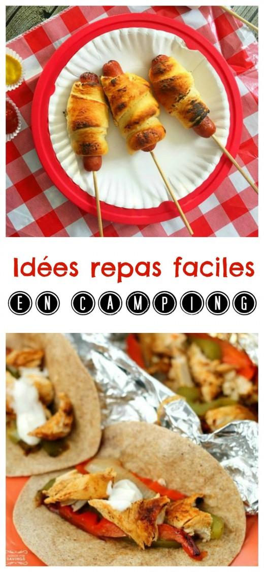 idées repas faciles en camping