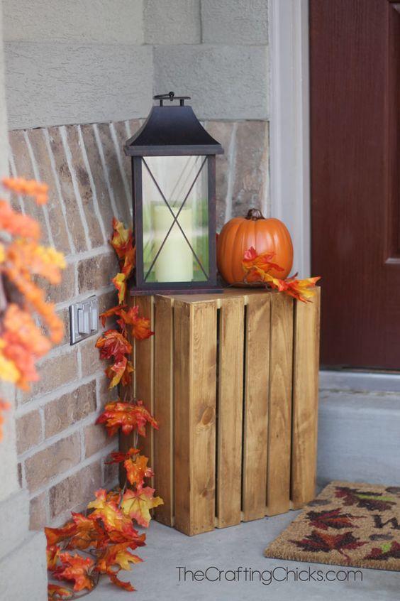 idée pour décorer à l'automne