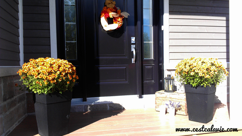 décor extérieur pour l'automne