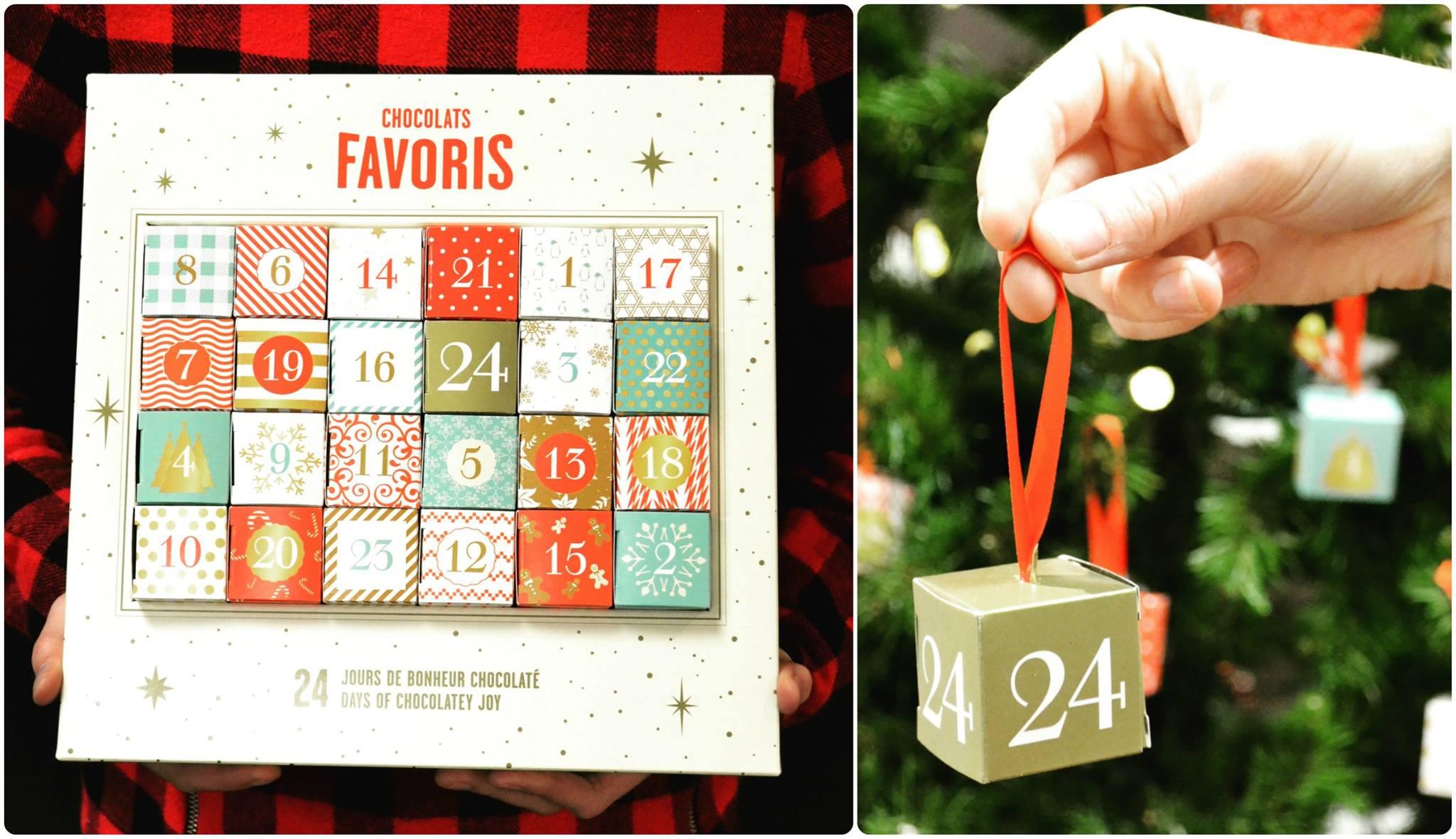 calendrier de l'avent chocolat favoris