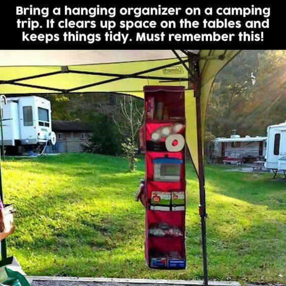 rangement pour le camping