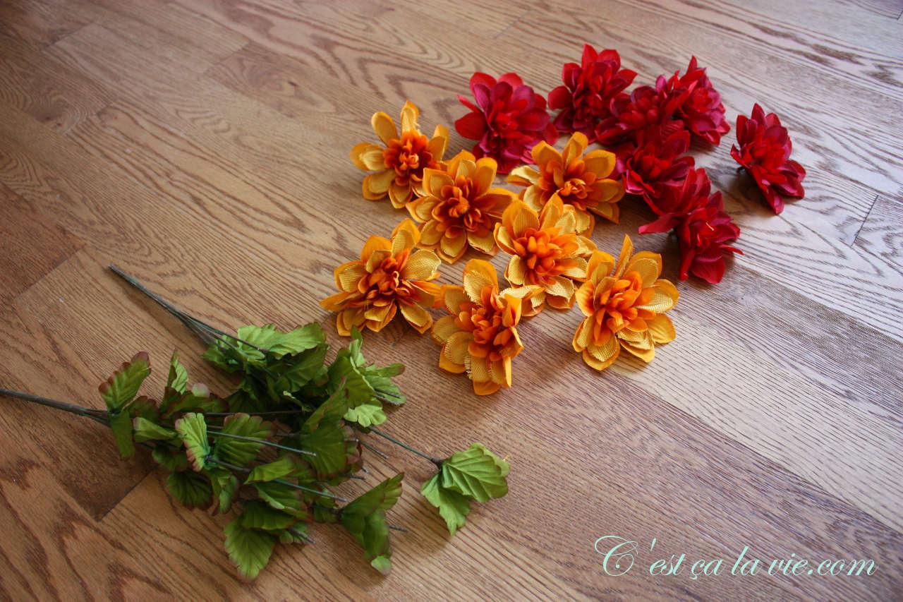 fleur couronne d'automne,