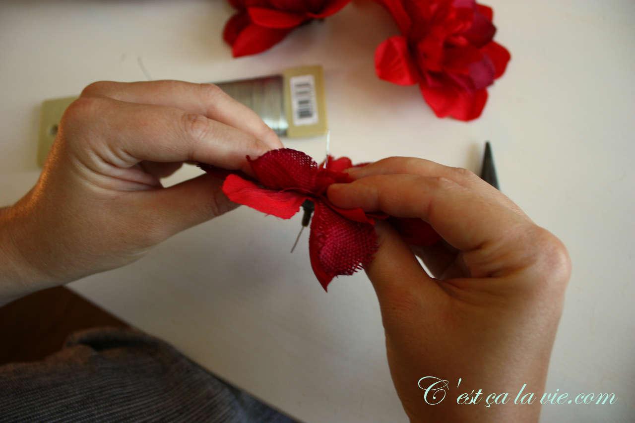 bricolage fleur artificiel