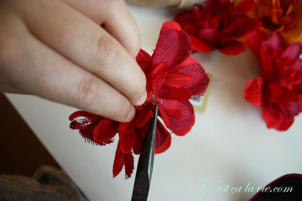 bricolage avec des fleurs