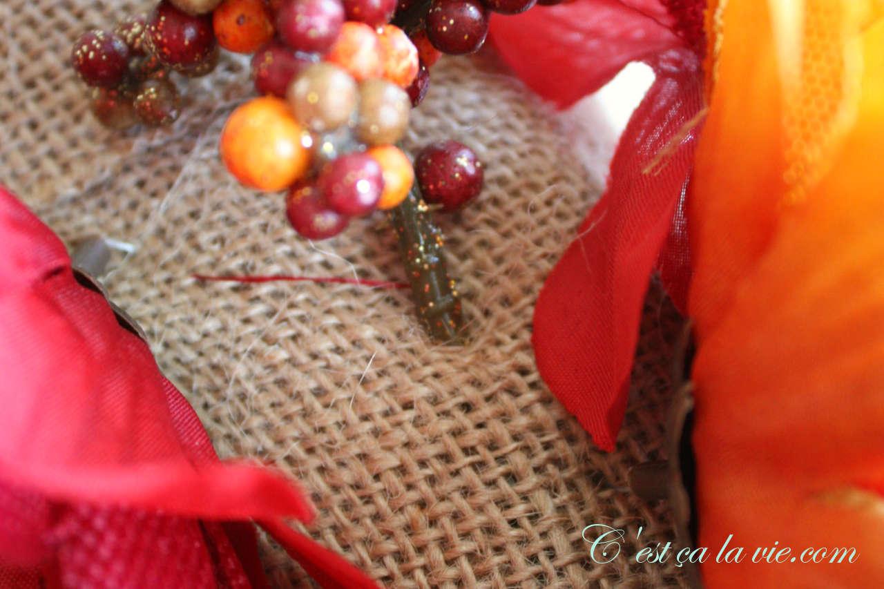 bricolage couronne d'automne