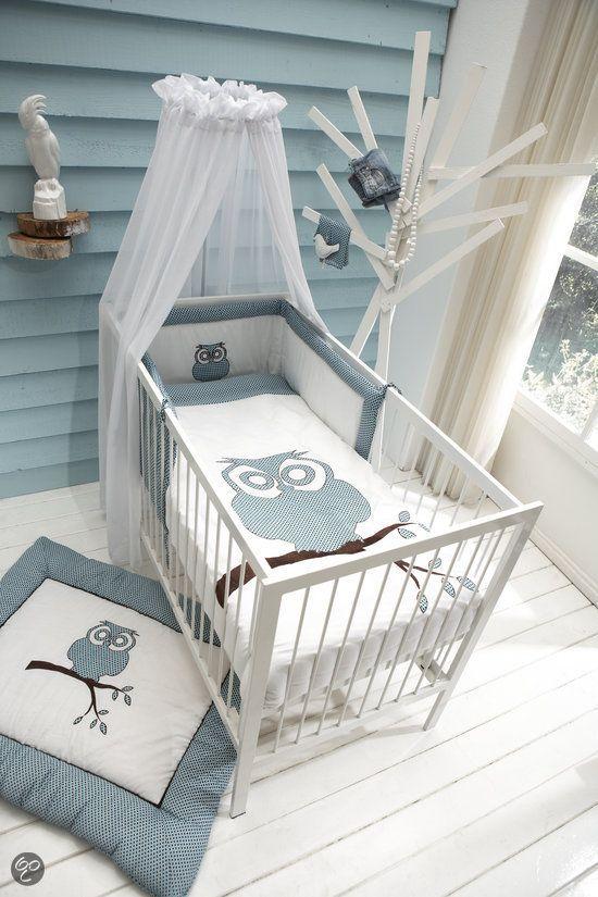 chambre bb bleu et gris mur