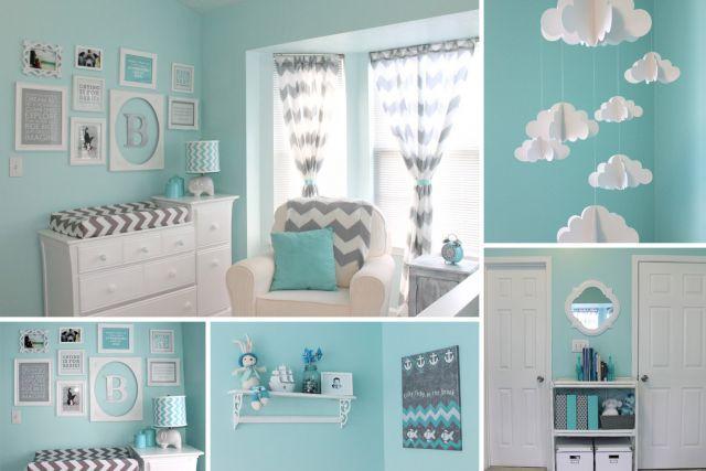 chambre bébé garçon bleu et gris