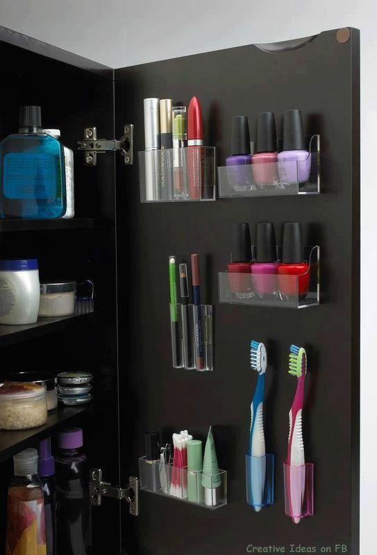 rangement maquillage salle de bain