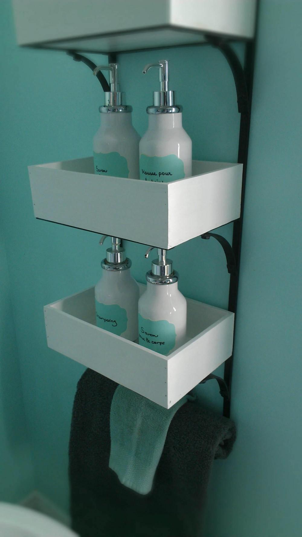 rangement bouteilles savon