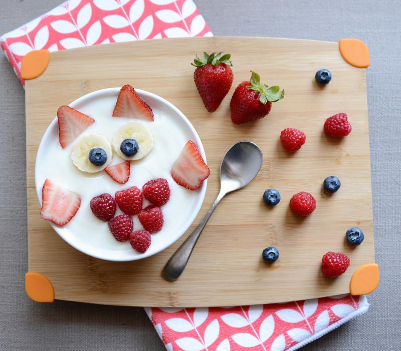 présentation yogourt fruits