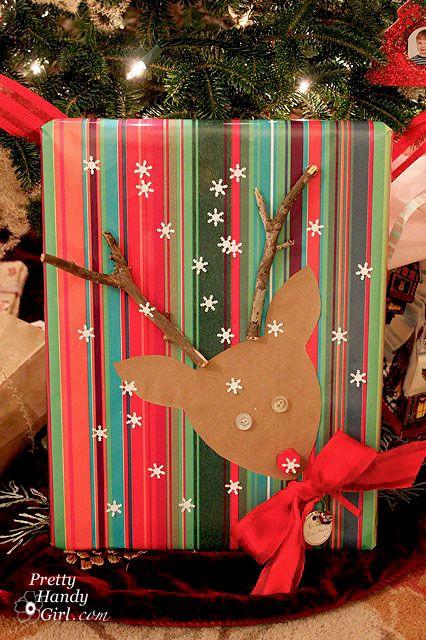 emballage cadeau renne