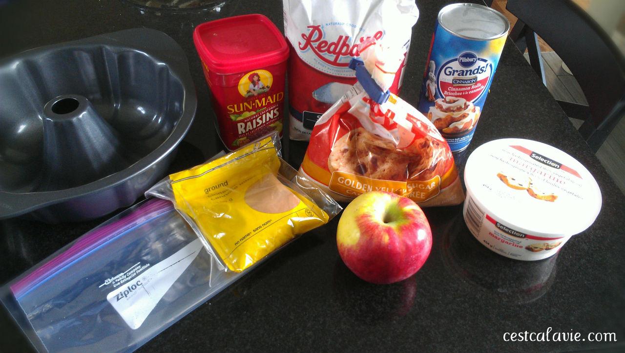 ingrédients monkey bread