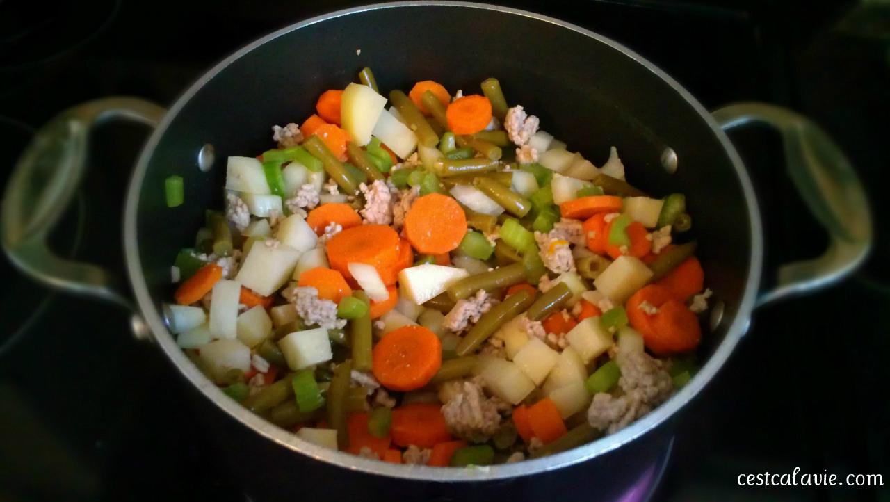 boeuf aux légumes casserole