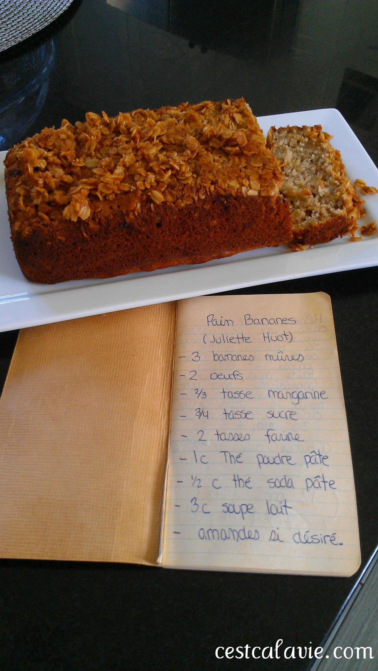 livre de recette et pain