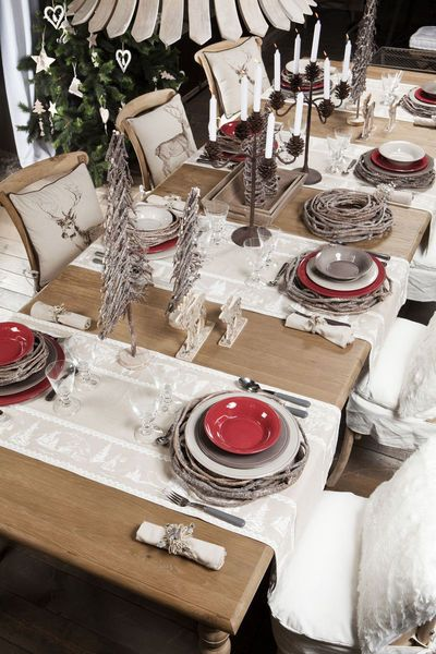 Deco table de noel rustique