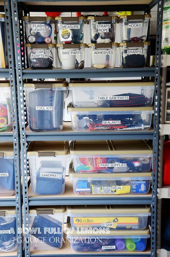 étagères rangement garage