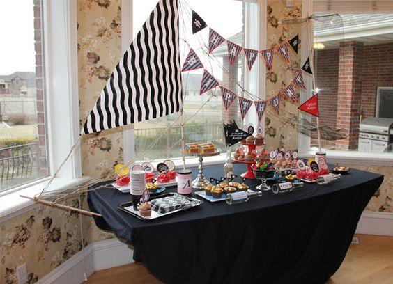table bateau pirate fête