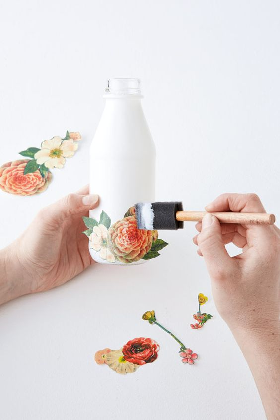décorer bouteille de verre