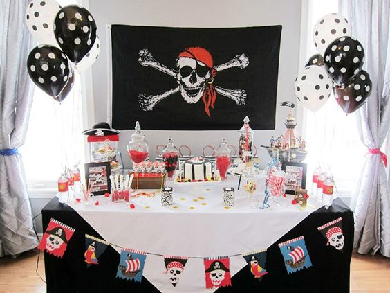 fête table pirate