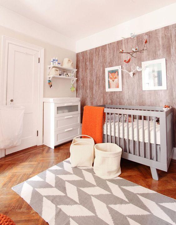 chambre bébé rustique