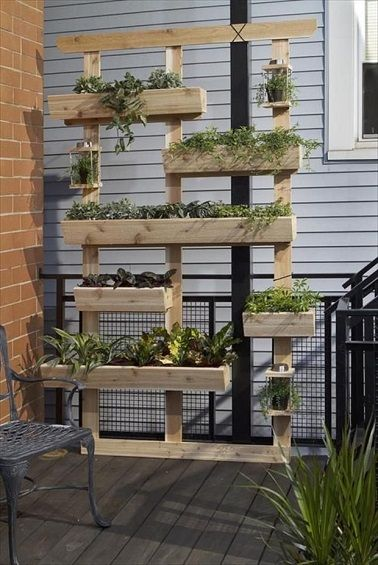 jardin palette de bois