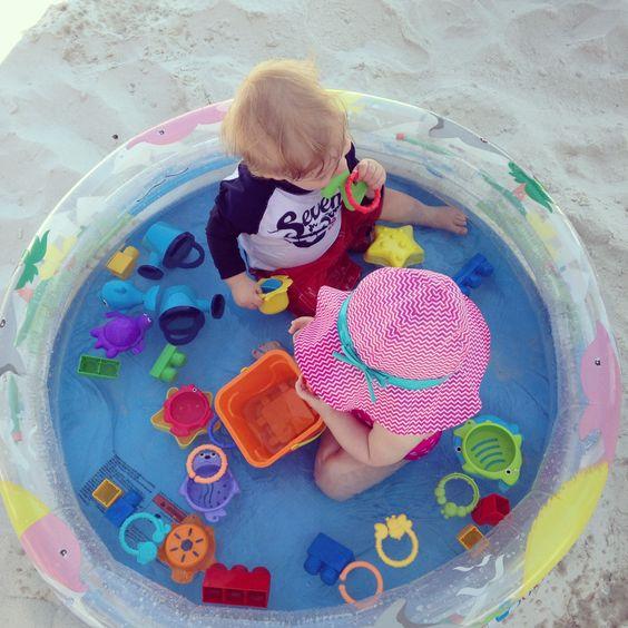 truc pour la plage avec un bébé