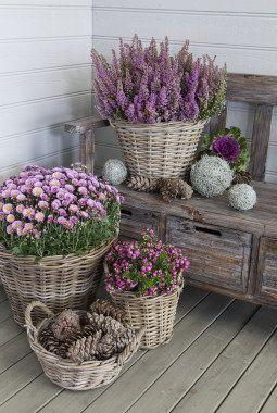 décoration du porche à l'automne