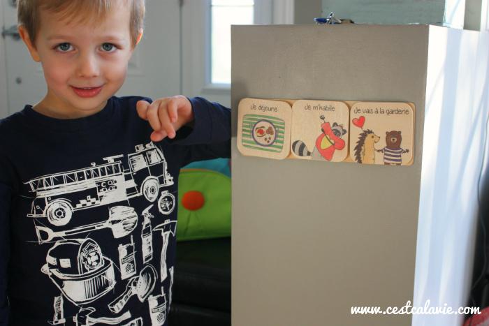 routine avec des images pour enfant