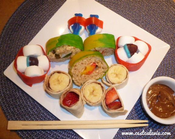 sushis pour les enfants