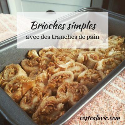 recette de brioches