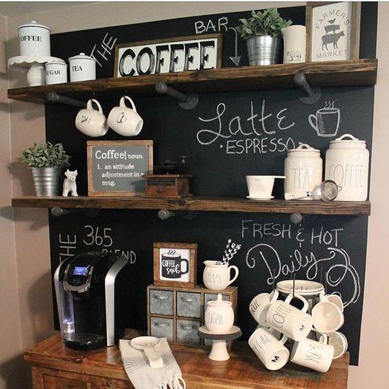 créer une station de café